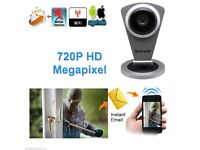 Ip camera720P Wifi silver CCTV Security microphone baby monitor(view via app!)