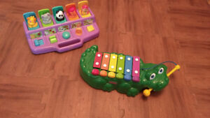 Pop up toy and music toy