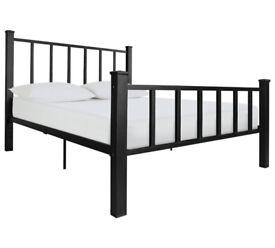 Gabe Black Bed Frame - Double