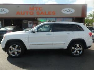 2013 Jeep Grand Cherokee Overland, LEATHER, NAV, BACKUP CAM, SUN