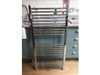 Heated towel rail inc valves