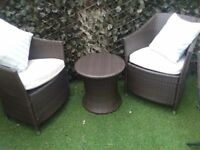 garden set furniture NOT FLAT PACKED ... THE BEST QUALITY SOLID TABLE AND 2 ARM CHAIRS, WAVERTREE