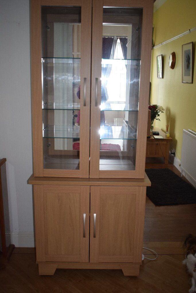 Dining Room Dresser Display Drinks Cabinet Mirrored