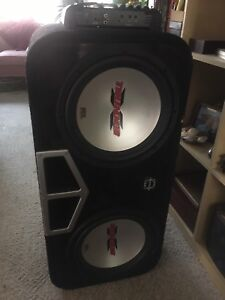 """Two 12"""" MTX Thunder Subwoofers, Alpine Amp and Wiring"""