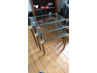 3 Toughened Glass side Tables