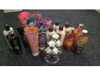 Mixed bundle of bottles for use on sunbed