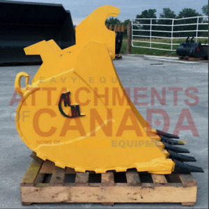 EXCAVATOR &BACKHOE TOOTH BUCKET, CANADIAN BUILT