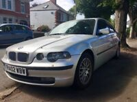 BMW 3 SERIES (2002) FOR SPARE PARTS - ALLOYS, TYRES IN EXCELLENT CONDITION + 6 CD CHANGER