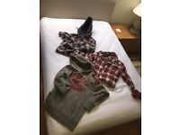Bundle of medium size Abercrombie and Fitch, Hollister and Superdry boys outerwear