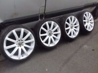 Alloy wheels 18 inch Multi fit 4x100 4x114.3 brand new tires 215/35/18