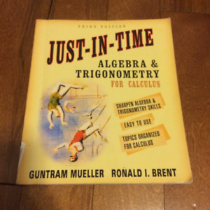 Just-In-Time Algebra & Trigonometry for Calculus