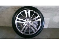 ALLOYS X 4 OF 20 INCH GENUINE RANGEROVER/HSE/DISCOVERY FULLY POWDERCOATED INA STUNNING SHADOW/CHROME