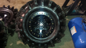 """30x10x14 STI Outback Max tires and 14"""" HD Beadlock wheels"""