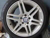 GENUINE C CLASS 17''AMG SPORT ALLOYS WITH TYRES
