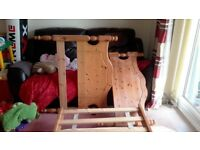 """Single Bed, Pine, from John Lewis, with Mattress (3' x 6'3""""), Complete, Excellent Used Condition!"""