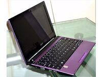 ACER ASPIRE ONE 533 - 10.1 INCH - WINDOWS 7 HOME PREMIUM -32 BIT -2GB RAM -138GB HARD DRIVE PURPLE