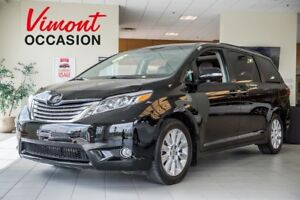 2015 Toyota Sienna LIMITED AWD CUIR GPS DVD SERVICE RECORD AT TO