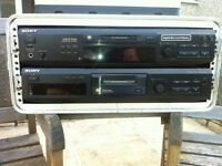 sony mini disc player recorder x2