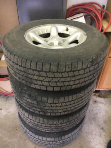 Summer tires and rims from 2003 Dodge ram 1500