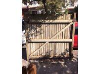 Closebord garden gate