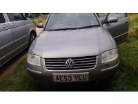 2003 VW Passat 2.0 Spares or Repair