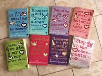 Set of 8 of Louis Rennison gilrs reading books
