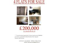 BLOCK OF 4 FLATS ALL 1 BEDROOM, £20,400 RETURN PER ANNUM, EXCELLENT YIELD.