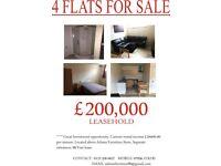 BLOCK OF 4 FLATS ALL 1 BEDROOM, £20,400 RETURN PER ANNUM, EXCELLENT YIELD.