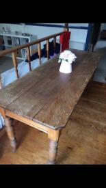 Edwardian oak table