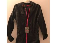 Waterproof jacket, stylish, navy, pink. BRAND NEW with tags - size 8