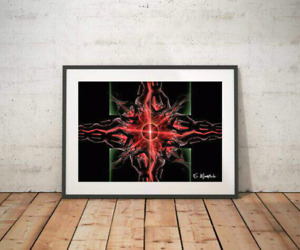 The Red Flame Abstract Fine Art print