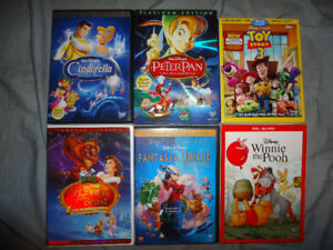 DISNEY AND OTHER MOVIES/BLURAYS/DVDS