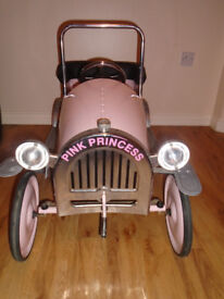 Childrens Pink Classic Pedal Car Suit Age 2-5 Years