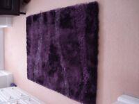 Large Modern Purple Rug
