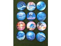 Coalport decorative dolphin plates