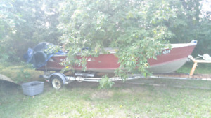 17 ' starcraft 20hp yamaha trailcraft trailer boat