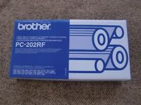 Brother fax rolls. PC-202RF. 2 rolls in one box. Brand new.