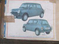 Classic Mini rear nudge bars (Unused)