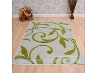 Green rug - as new