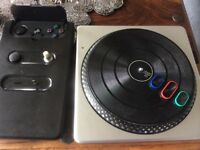 PS3 dj hero turn table and mixer