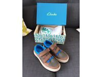 Clarks new boys shoes size 1f