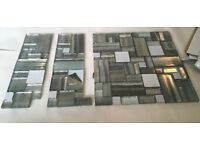 Glass Mosiac Splash Back Tiles - On Mesh Sheet