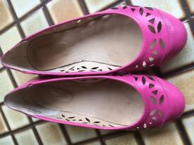 Leather Cerise Shoes