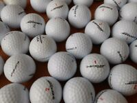 60 Dunlop Golf Balls. Various types. Excellent condition. Mostly Grade A/Pearl Grade