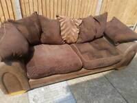 Brown fabric sofa free delivery