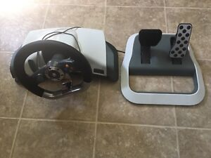 Xbox 360 pedals and wheel