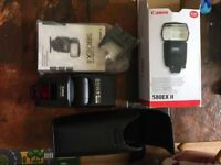 CANON SPEEDLITE 580EX II - ELECTRONIC FLASH - USED ONCE - SOFT CASE - BOXED - MANUAL