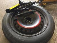 Spare wheel kit for 5 stud ford