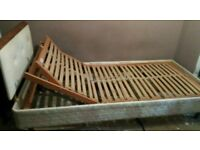 Reclining electrical single bed full movement's