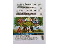 Alton Tower anyday ticket -4 available
